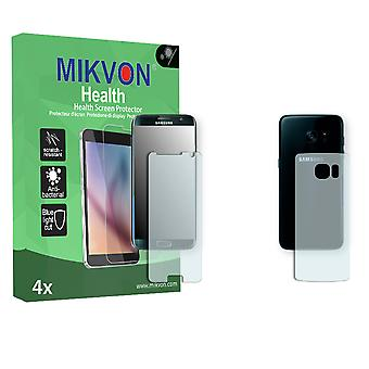Samsung Galaxy S7 Edge Screen Protector - Mikvon Health (Retail Package with accessories) (2x FRONT / 2x BACK) (reduced foil)
