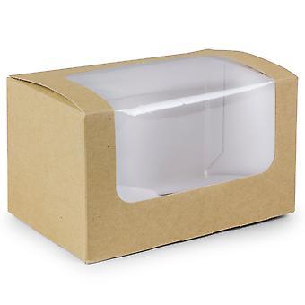 Vegware kompostierbar rechteckig Sandwich Kartons