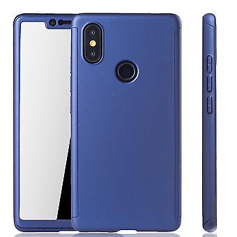Xiaomi MI 8 SE caso proteção caso móvel completo capa tanque proteção vidro azul