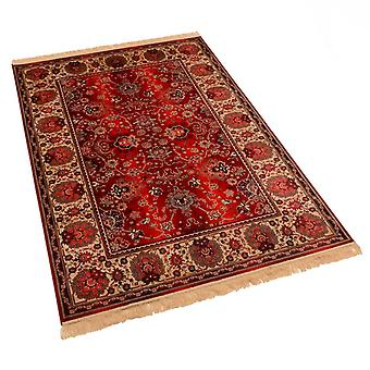 Large Red Artificial Faux Silk Effect Antislip Indian Agra Rugs 4620/12 160 x 230cm