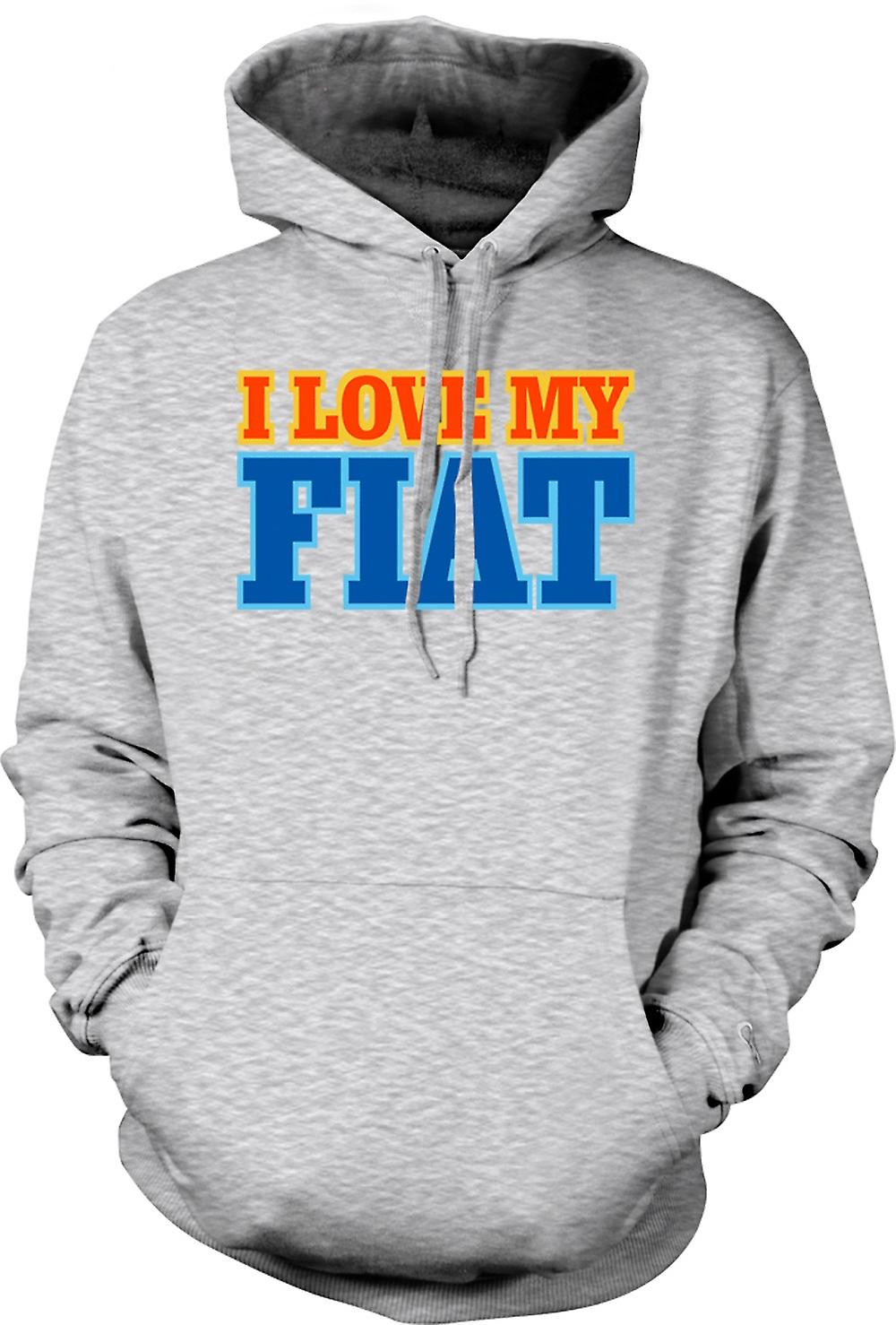 Mens Hoodie - I Love My Fiat - Car Enthusiast