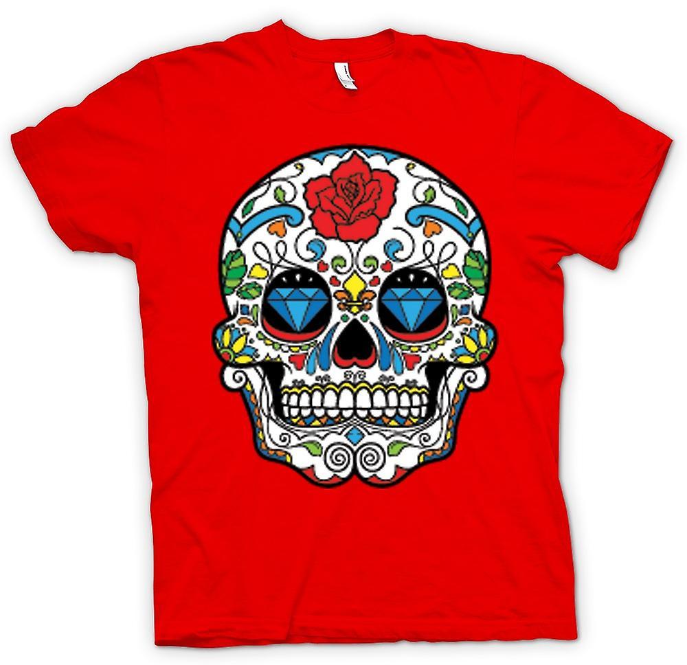 Hommes T-shirt - Mexicain crâne de sucre - Dia de los Muertos