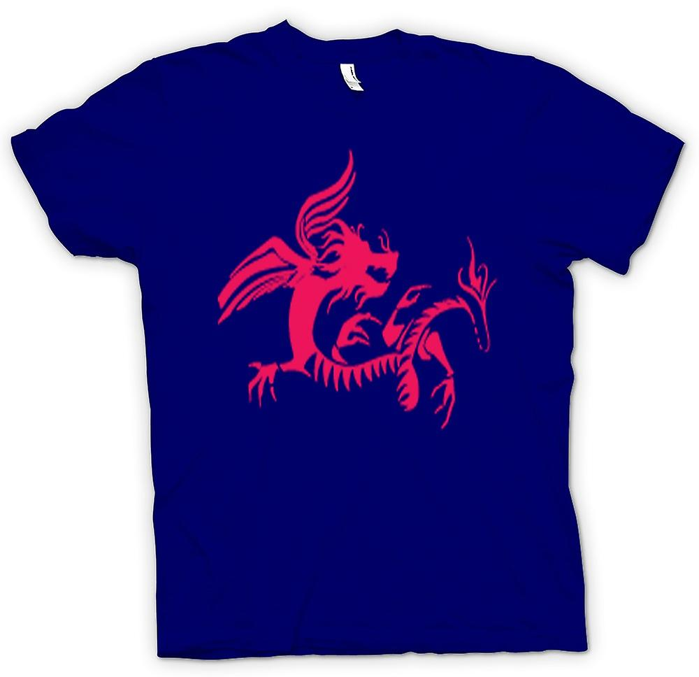 Mens T-shirt - Dragon Tribal Design