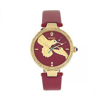 Bertha Nora Leather-Band Watch - Fuchsia