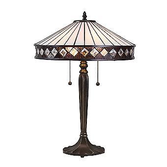 Fargo medio estilo Tiffany lámpara de mesa - interiores 1900 70935