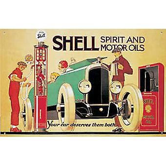 Shell Petrol Pump Steel Sign