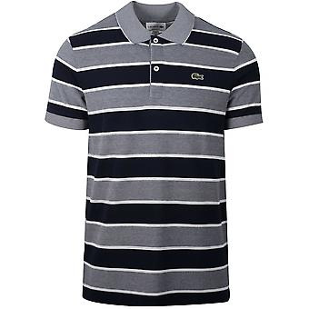 Lacoste Lacoste Navy Striped Polo Shirt