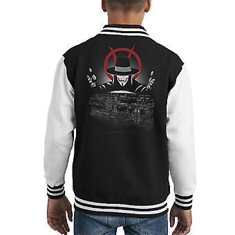 V For Vendetta Revolution Kid's Varsity Jacket
