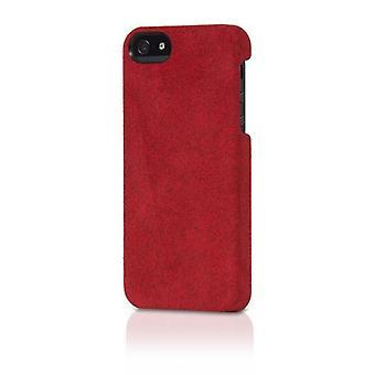 Original Alcantara Italian Design Case for iPhone 5/5s - Red Suede