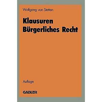 Recht d Klausuren par Von Stetten & Wolfgang