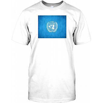 United Nations Grunge Flag - UN Mens T Shirt