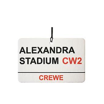 Crewe Alexandra Stadium Street segno auto deodorante /