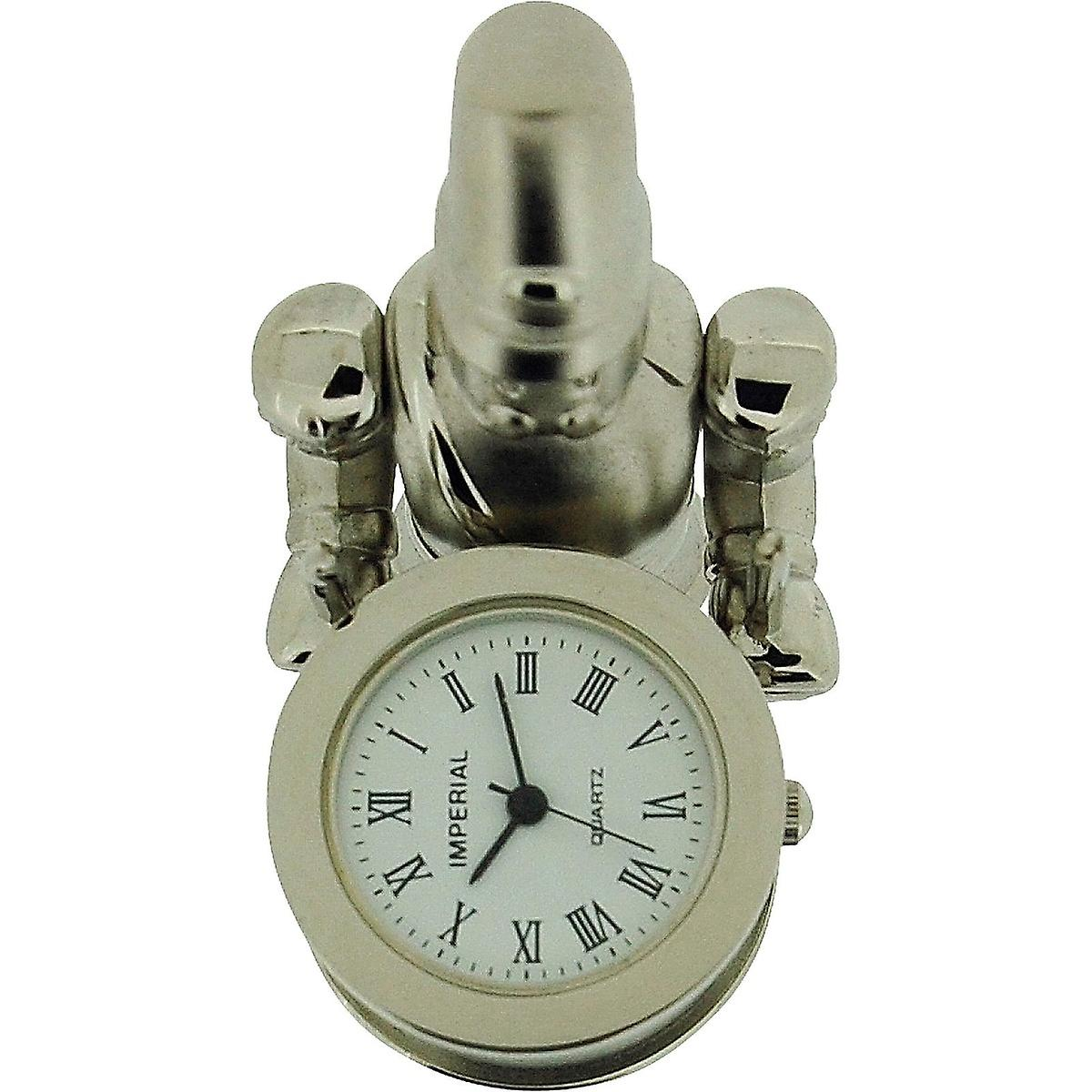 Collectors Novelty Miniature Imp1041s Soldier Clock Drum Chrome Plated Toy With oedrCxB