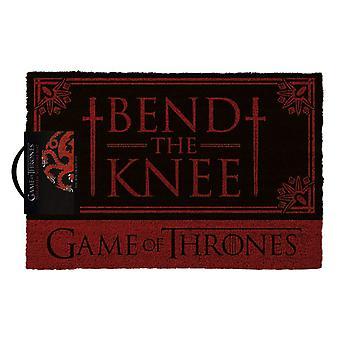 Game of Thrones Targaryen Bend the Knee Doormat