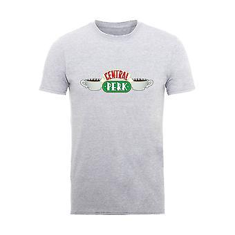 Mannen vrienden centrale perk logo Heather T-shirt
