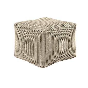 Steel Square Bean Bag Footstool Pouffe Seat in Soft Jumbo Cord Fabric