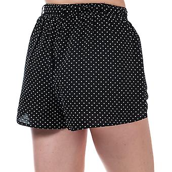Womens Brave Soul Tie Waist Spotted Shorts In Black / White