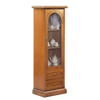 Classic display cabinet 1 single door and drawers