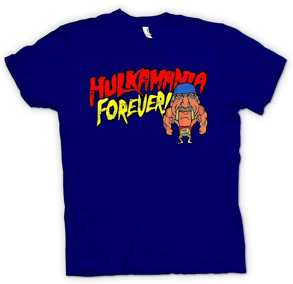 Heren T-shirt - Hulkmania Forever - Hulk Hogan Cartoon