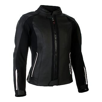 Richa Black-White Nikki Womens Motorcycle Leather Jacket