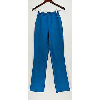 Denim & Co. Leggings Tall Stretch Tall Boot Cut Length Blue A01725