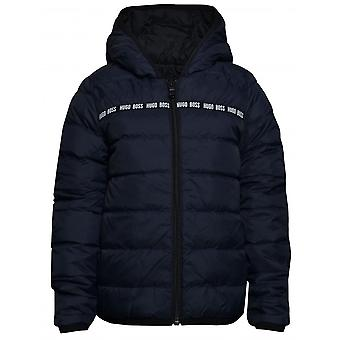 Hugo Boss Boys Hugo Boss Kids Navy/Black Reversible Puffer Jacket