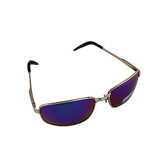 Sonnenbrille Sport Rechteck polarisierendes Glas Gold blau mehrfarbig free BrillenkokerS305_5