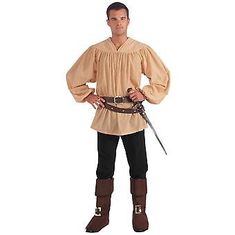 Medieval Renaissance Knight King Arthur Prince Men Costume Shirt