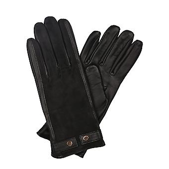 Libby Leather & Suede Gloves in Black