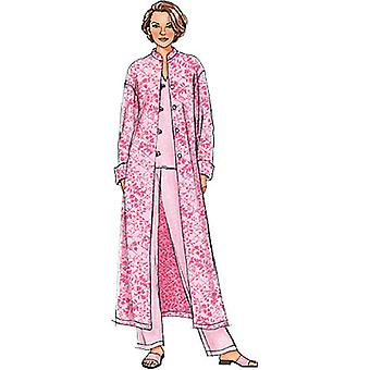 Misses' Misses' Petite Jacket, Robe, Top, Tunic And Pants  Y Xsm  Sml  Med Pattern B4406  0Y0