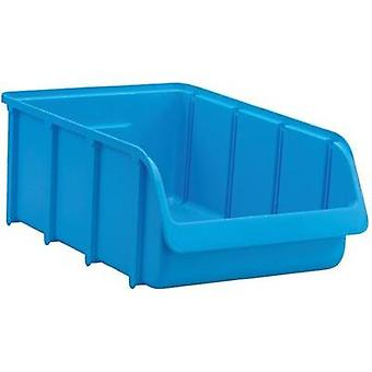 Alutec Semi Open Fronted Plastic Storage Container (Size 4, Blue) Blue (L x W x H)