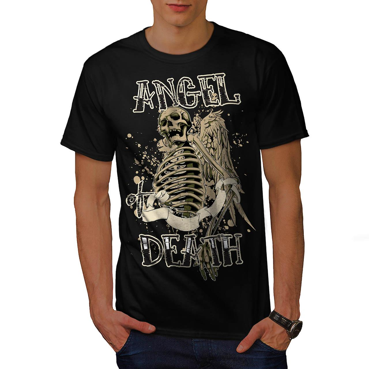 Angel Death Halo Wing Hell Gate Men Black T-shirt | Wellcoda