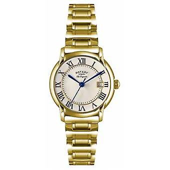 Rotary Womens Les Originales Carviano Gold PVD Plate LB90143/03 Watch
