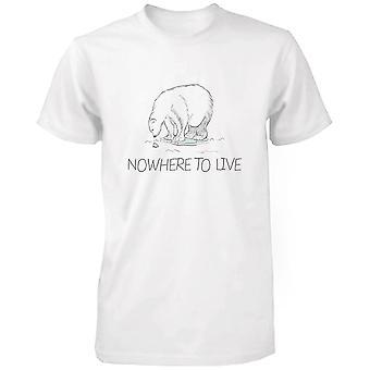 Ingen steder at leve Polar Bear mænds skjorter jordens dag Gem isbjørn kampagne