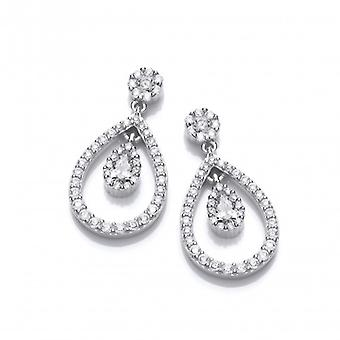 Cavendish French Silver and CZ Lantern Earrings