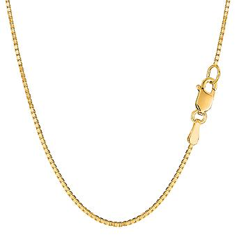 14k Yellow Gold Classic Mirror Box Chain Necklace, 1.2mm