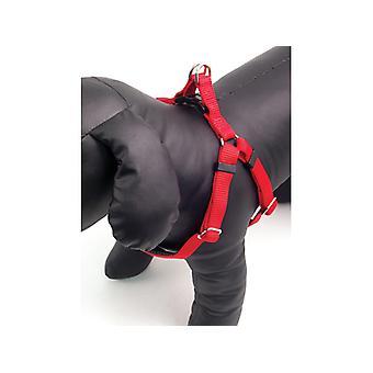 Classic Soft Protection Nylon Harness Red Medium 3/4