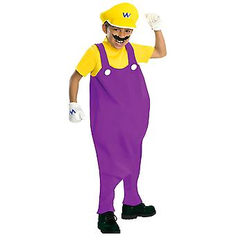 Wario Super Mario Antagonist Licensed Boys Costume