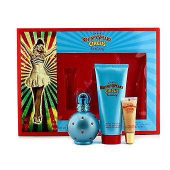 Britney Spears Circus Fantasy Coffret: Eau De Parfum Spray 50ml/1.7oz + Body Souffle 100ml/3.3oz + Lip Gloss 8ml/0.27oz 3pcs