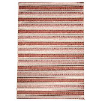 Udendørs rød & Rust geometrisk tæppe - Floorit