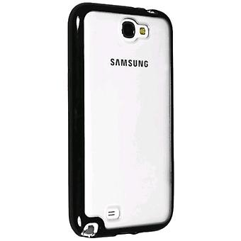 Technocel Hybrigel Case Cover til Samsung Galaxy Note II (klar/sort) - SAGN2HG