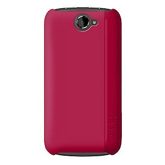 HTC - Hardshell Snap-On Case for HTC One S - Magenta Pink