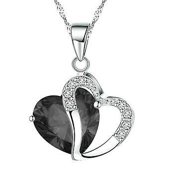BOOLAVARD Fashion kristallen hart vorm hanger ketting