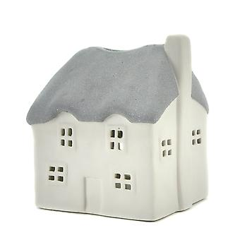 Lys-glød Thatched House stearinlys indehaveren, grå