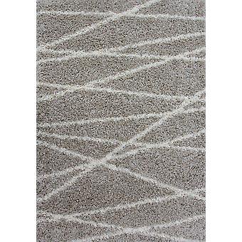 Naturlig blød geometrisk Shaggy tæppe - Helsinki