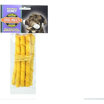 Bravo Palito Twist Honey 5 'Pack 10 units (Dogs , Treats , Bones)