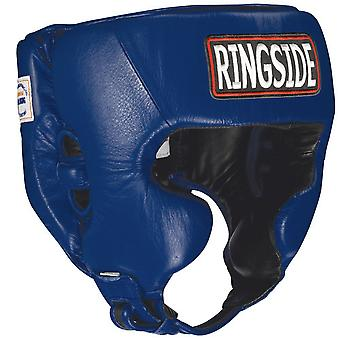 Ringside Competition Boxing Headgear With Cheeks - Blue