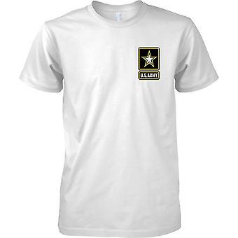 Los E.E.U.U. ejército Insignia - pecho de hombre diseño camiseta