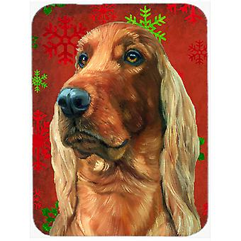 Irish Setter Red Snowflakes Holiday Christmas Mouse Pad, Hot Pad or Trivet
