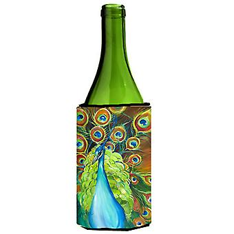 Bling Peacock Wine Bottle Beverage Insulator Hugger